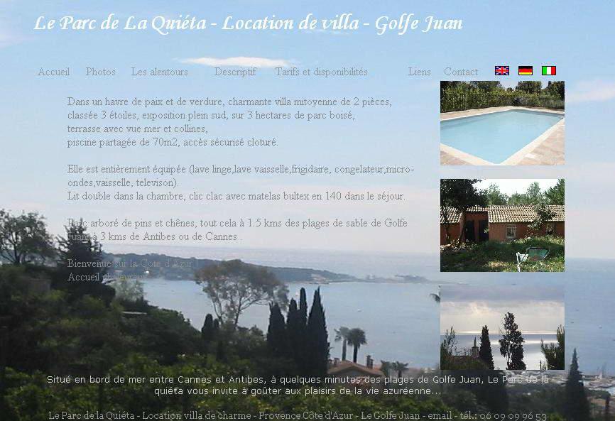 Location Villa T2 à Cannes-Vue Mer et Piscine